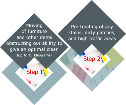 carpet clean steps