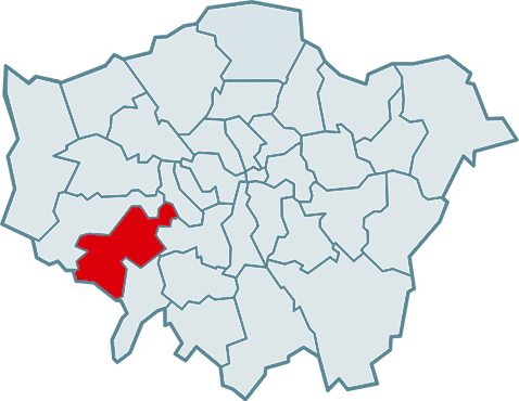 barking and dagenham map